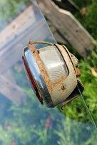 1930s tail light with license lens illuminator